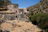 Nisyros - the ancient monastery of Siones, one of the dependencies of Spiliani, is typical in consisting of a small chapel, modest living quarters and farm buildings in support of a self-sufficient lifestyle through farming