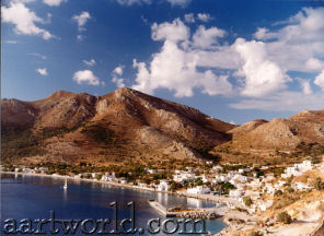 Tilos - Livadia, the Island's main town and harbour