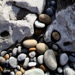 rock and pebbles, Gower coast