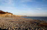 Glamorgan Heritage Coast - looking East across the rocky foreshore at Nash Point